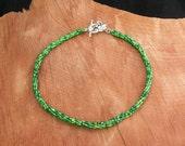 Multi Green Tubular Twisted Herringbone Necklace