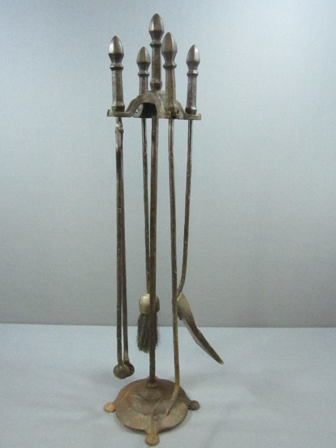 cast iron set of fireplace tools with stand cahill free ship