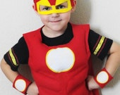 Child's Red and Yellow Super Hero Costume - JulieMarieKids