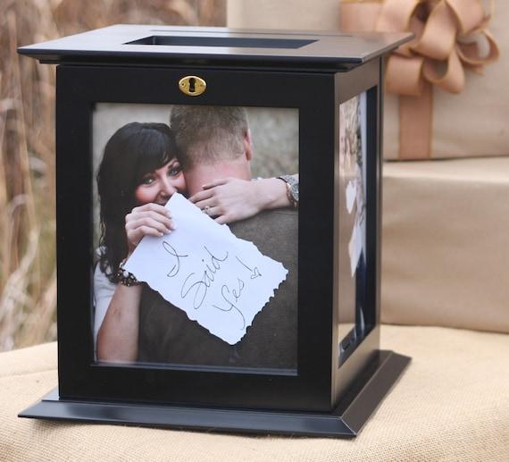 Locking Black Wedding Card Box With NO Personalization