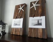 Set of Two / beach home decor / nautical / Frame / wall hanging / 5x7 picture