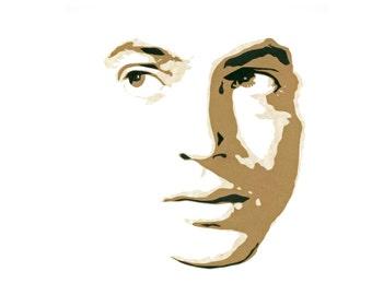 "Original Hand-Cut Paper Portrait - ""Farley Granger"""