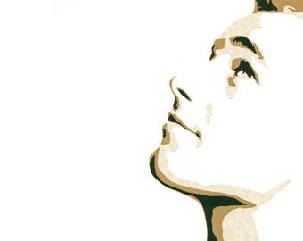 """Original Hand-Cut Paper Portrait - """"Guy Madison"""""""