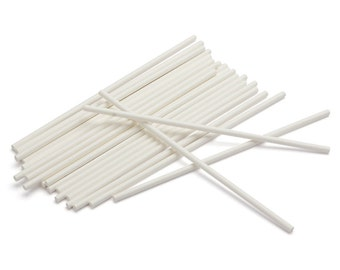 "50 6"" Lollipop Sticks - cake pops, candy bar, candy making, candy apples"