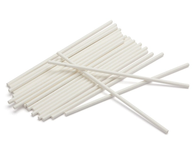 """50 6"""" Lollipop Sticks - cake pops, candy bar, candy making, candy apples"""