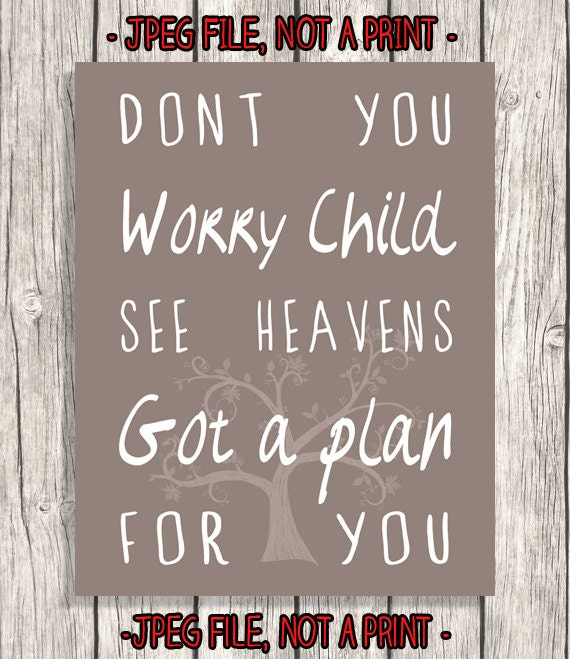 Dont Worry Lyrics Song Download: Song Lyrics Typography Don't You Worry Child By PatiHomeDecor