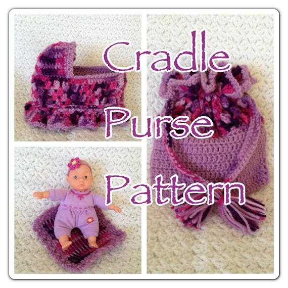 Cradle Purse Pattern by MyHandmadeDolls on Etsy