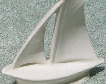 Czechoslovakia Porcelain Royal Dux White Sail Boat