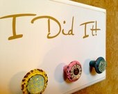 Half Marathon, Marathon, TRI Medal Display Holder - Medium Cream - I Did It