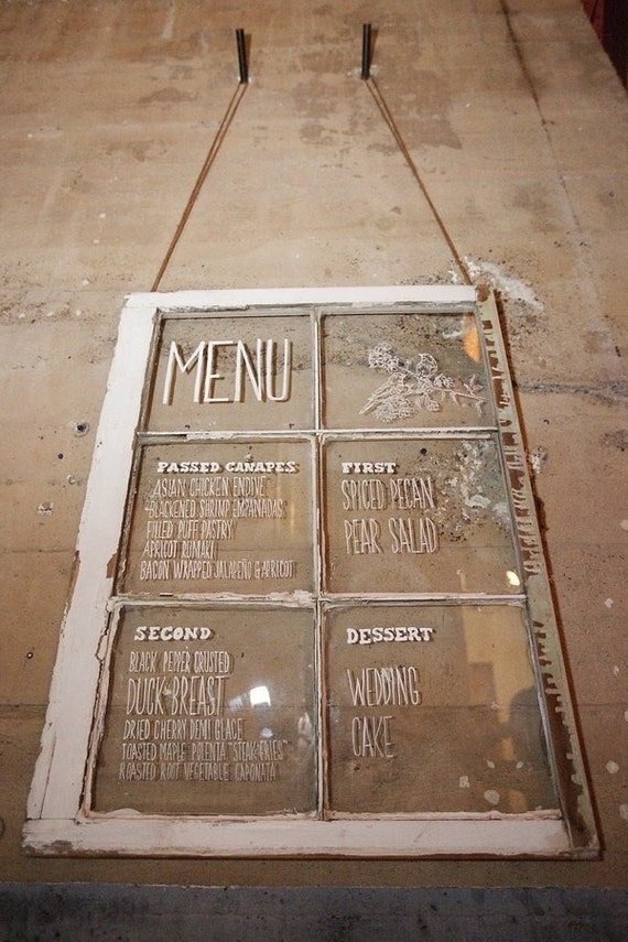 Items Similar To Vintage Menu Display Windows Wedding Restaurant Bistro Or Party Menu On Etsy