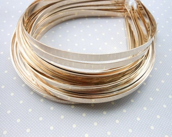 50pcs 6mm Metal Headbands gold color with bent end  ,hair band hair clasp .