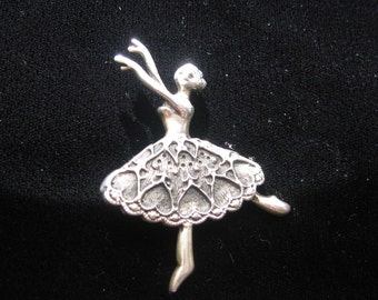 Dancer Pin, Ballerina Pin, Sterling Ballerina Pin, Vintage Dancer Pin, Vintage Ballerina Pin