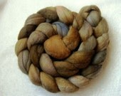 "Hand dyed merino spinning fiber combed top roving 4oz 113grams ""Walk in the Woods"" OOAK"