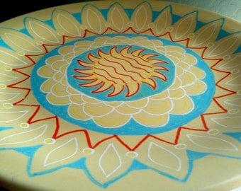 Decorative Plate-Sun Mandala-Hand Painted