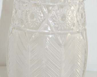 "6"" Antique Early American Prescut EAPC Glass Vase"