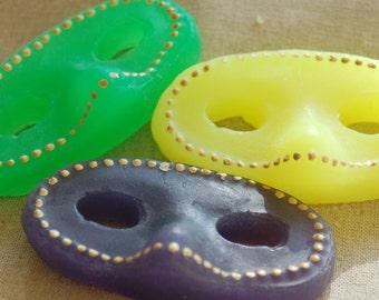 Mardi Gras 3-Color Masks Decorative Soaps
