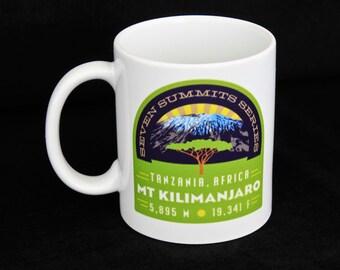 Mt. Kilimanjaro Seven Summits Series Coffee Mug