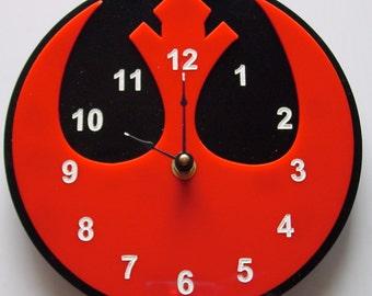 Star Wars Rebel Alliance symbol clock