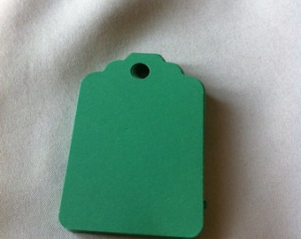 Set of 50 green  Tags , Favor Tags, Treat Bag Tags, Product Tags, Hang Tags, Wish Tree Tags, birthday tags ,