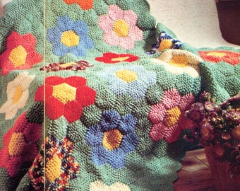 Granny's Flower Crochet Blanket Pattern