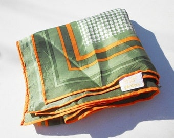 Vintage scarve early 1960's scarf by Glentex Mid century hair and fashion accessory Free Shipping