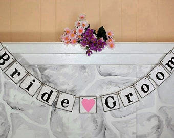 Bride and Groom -  Wedding Banner -  Wedding Decoration -  Photo Prop