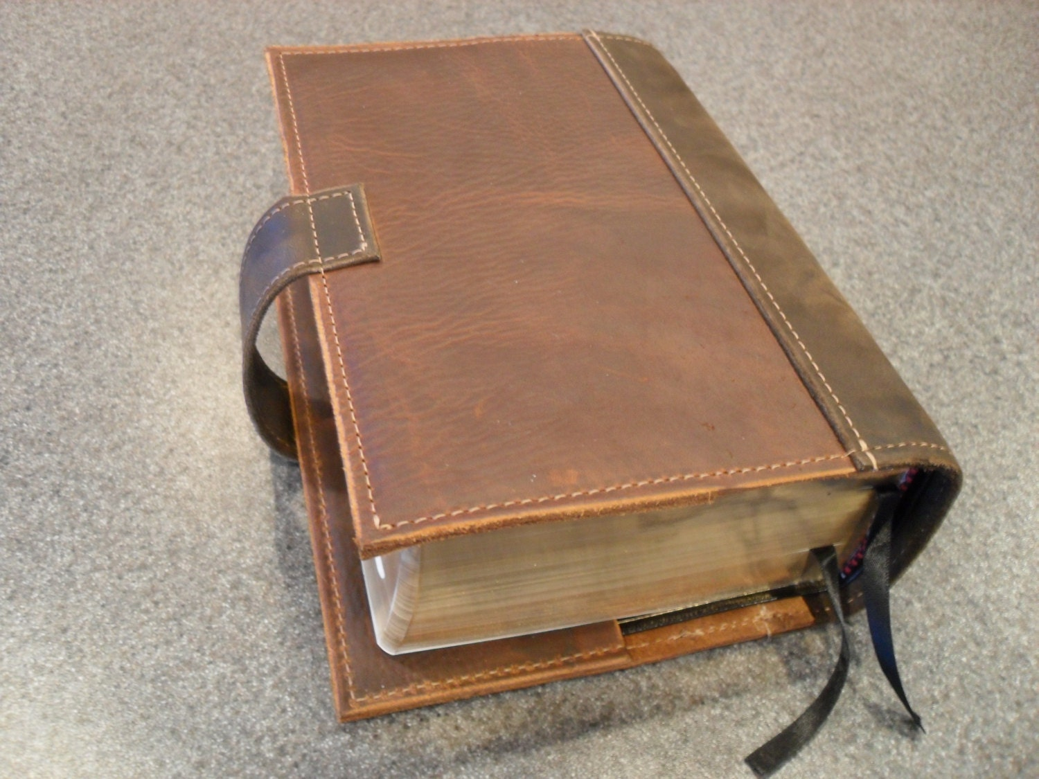 Vintage Leather Look Jeremiah Verse Bible Book Cover Large: Leather LDS Scripture Case The Quad
