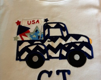 Fourth of July Truck Applique