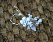 Rustic Shabby Chic White Artificial Flower Embellishment FL-025