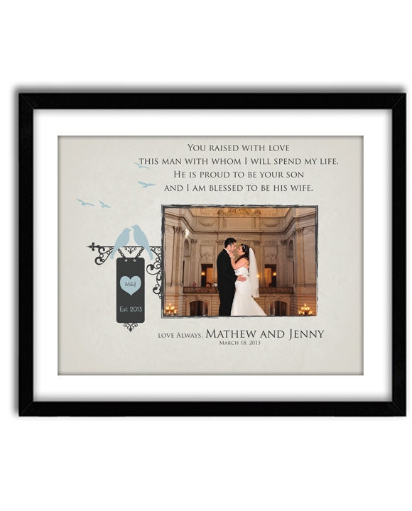 Wedding Gift for Parents Of Groom Thank You gift for Parents
