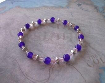 Pretty dark purple agate bracelet