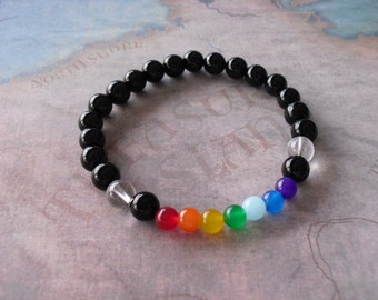 Black onyx (chakra) bracelet