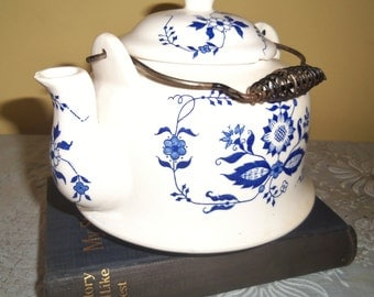 Collectible Teapot Blue and White