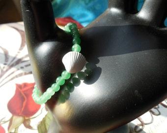 Aventurine and Shell Bracelet