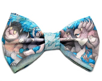 Where The Wild Things Are Bow Tie, Adjustable Strap, Maurice Sendak, Max, Geek, Bowtie, Monster, Where The Wild Thing