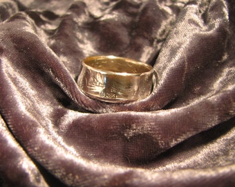 COIN RING made from a 1934 Walking Liberty Half Dollar, A NEW unsized Mens / Mans ring 82 year old American 90% silver coin