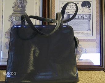 Vintage Gray Patent Leather Purse