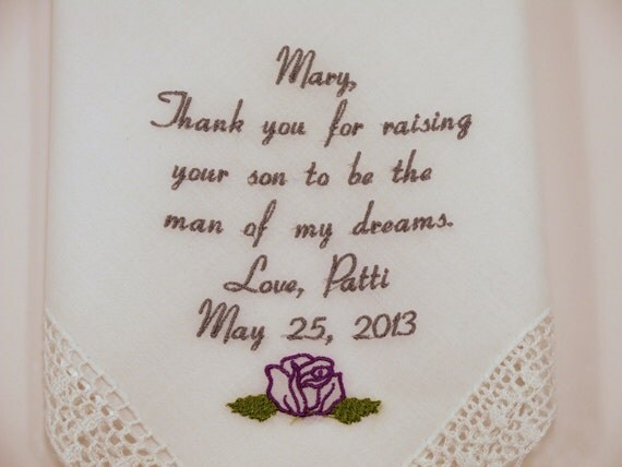 Wedding Gift For Mother In Law: Mother In Law Gift Personalized Wedding By NapaEmbroidery