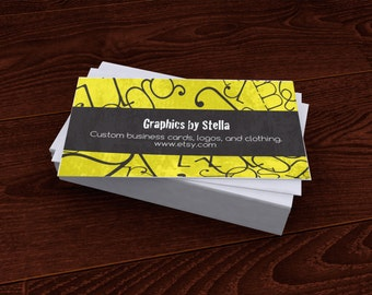 Premade Customized Business Card Typography Bold For Etsy Users
