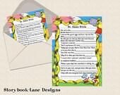 Dr. Seuss Baby Shower Trivia Game- Design Fee