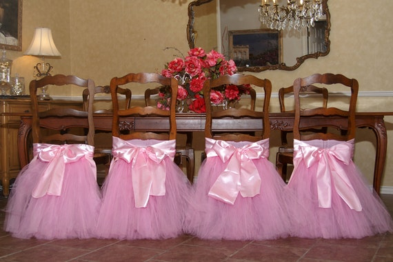 Chair Tutu For Your Princess Birthday Party Table Perfect For
