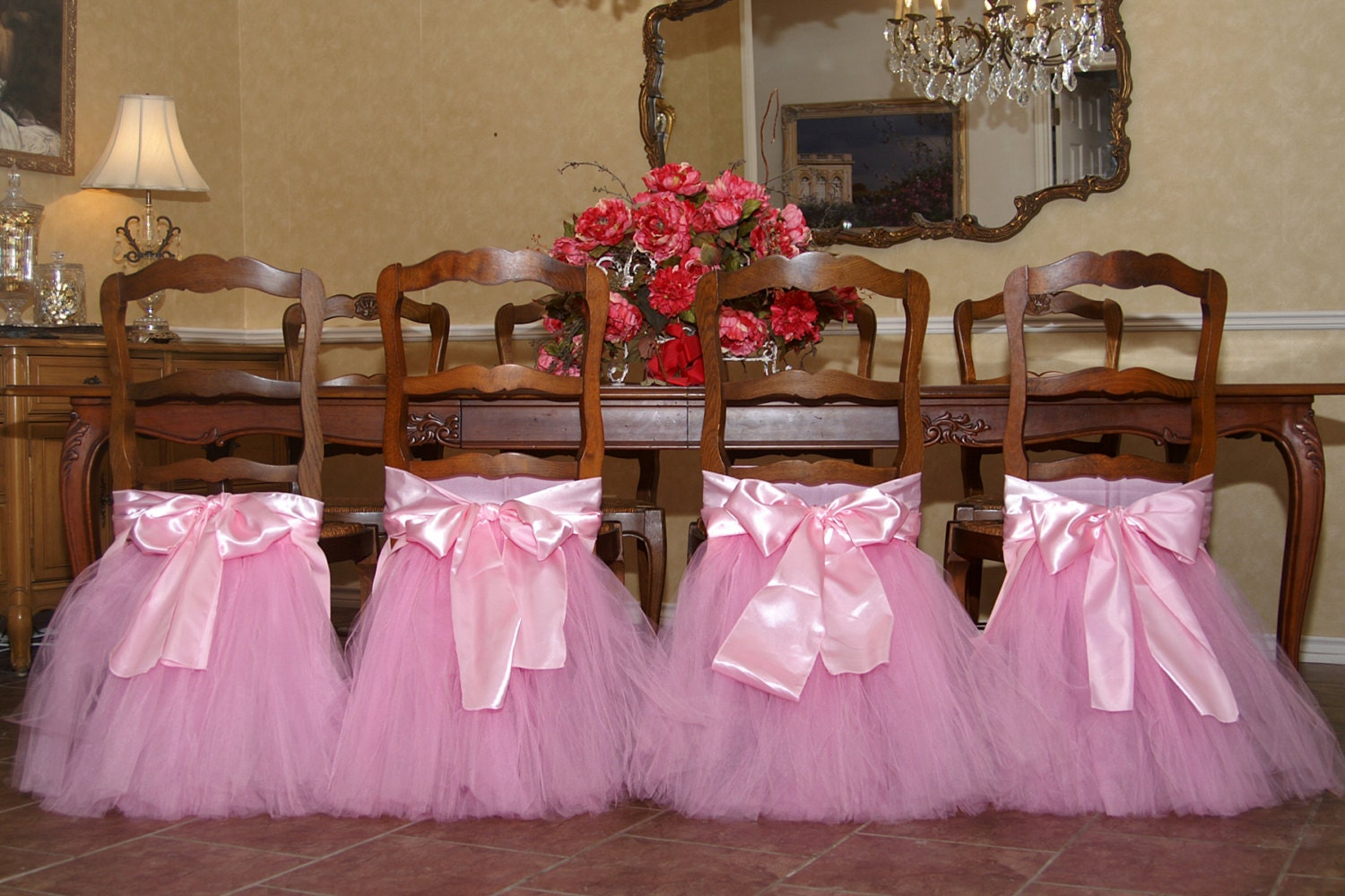 handcrafted chair tutus for your princess 39 s birthday party