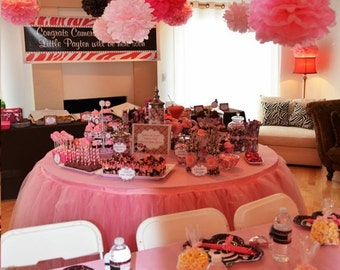 CUSTOM COLORS / 50 tissue paper pom poms / wedding decorations, birthday decor, bridal shower, nursery, baby shower, 1st birthday