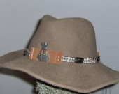 Country Hatband /  Concho Silver beads
