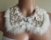 detachable peter pan collar necklace beads bridal wedding valentines day gift for her nr. 05