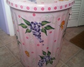 20 Gallon Hand Painted Galvanized Can