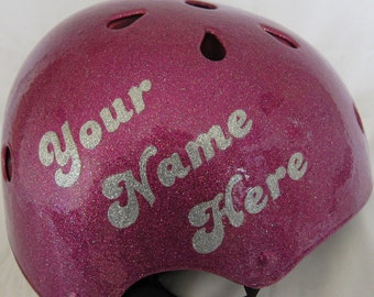 Personalized Glitter Helmet / 2-Color