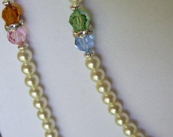 Swarovsky crystal and pearl set 0210NK