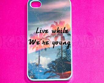 iPhone 6 Plus Case,iPhone 6 Case, iphone 4 Case, iPhone 4s case, Live While We're Young iPhone 4 Case, Iphone 4s Cover,Case For iPhone SE