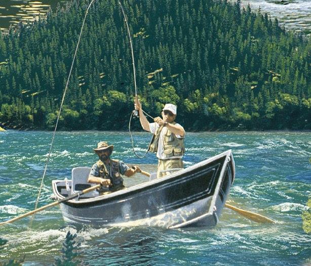 Top rod fabric by the yard elizabeth 39 s studio fishing in for Lake elizabeth fishing